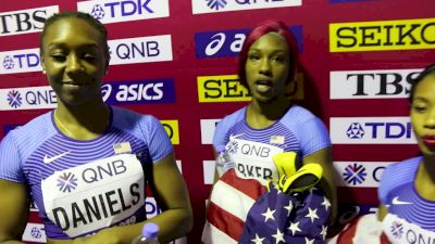 US Stuck With The Same Squad And Takes WCs Bronze In Women's 4x100m