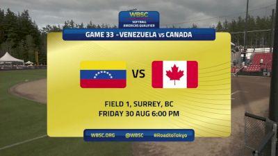 Venezuela vs Canada | 2019 WBSC Softball Americas Olympic Qualifier