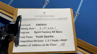 Spirit Factory - Youth Sparkle [L2.1 Youth - PREP] 2021 Beast of The East Virtual Championship