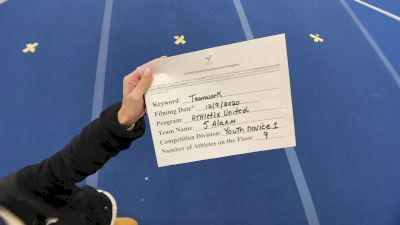 Athletix United - 5 Alarm [Level 1 L1 Youth - Novice] Varsity All Star Virtual Competition Series: Event VII