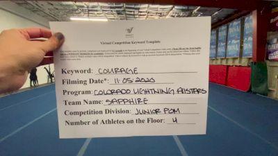 Colorado Lightning Athletics - Sapphire [All Star Junior - Pom] Varsity All Star Virtual Competition Series: Event III