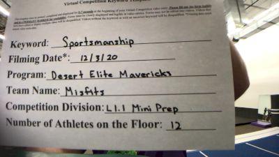 Desert Elite Mavericks - Misfits [Level 1.1 L1.1 Mini - PREP] Varsity All Star Virtual Competition Series: Event VI