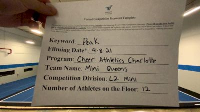 Cheer Athletics - Mini Queens [L2 Mini] 2021 The Regional Summit Virtual Championships
