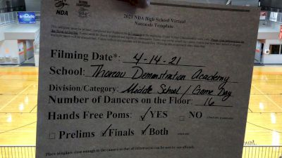 Thoreau Demonstration Academy [Virtual Jr. High/Middle School - Game Day Finals] 2021 NDA High School National Championship
