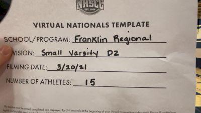 Franklin Regional High School [Small Varsity Division II Virtual Finals] 2021 UCA National High School Cheerleading Championship