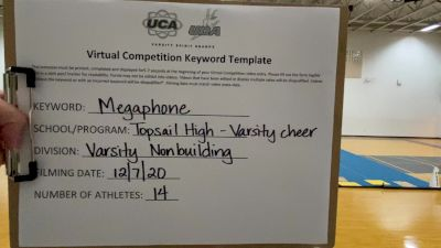 Topsail High School [Game Day Varsity Non-Building] 2020 UCA Virtual Regional