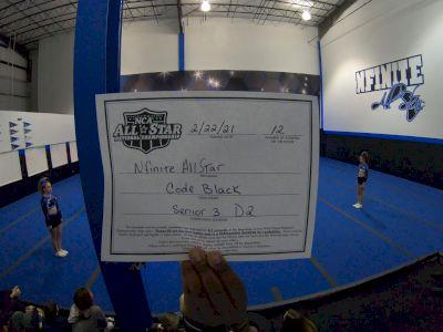NFINITE All Stars - Code Black [L3 Senior - D2 - Small - B] 2021 NCA All-Star Virtual National Championship