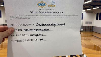 Woodhaven High School [Medium Varsity - Pom] 2021 UDA Spirit of the Midwest Virtual Challenge