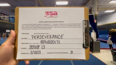 Nor Cal Elite All Stars - San Ramon - Aphrodite [L3 Senior] 2021 USA All Star Virtual Championships
