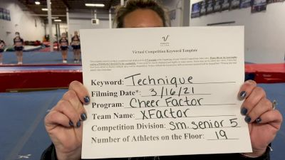 Cheer Factor - XFACTOR [L5 Senior] 2021 Varsity All Star Winter Virtual Competition Series: Event IV