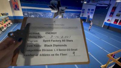 Spirit Factory - Black Diamonds [L4 Senior - D2 - Small] 2021 Beast of The East Virtual Championship