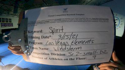Las Vegas Elements - Windstorm [L2 Junior - D2 - Small] 2021 PacWest Virtual Championship