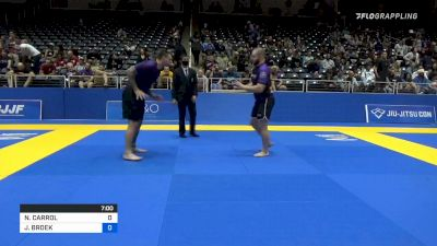 NATHAN CARROL vs JONATHAN BROEK 2021 World IBJJF Jiu-Jitsu No-Gi Championship
