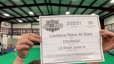 Louisiana Rebel All Stars - Courage [L2 Junior - Small - A] 2021 NCA All-Star Virtual National Championship