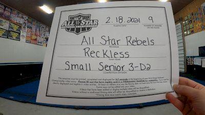 All Star Rebels - Reckless [L3 Senior - D2 - Small - B] 2021 NCA All-Star Virtual National Championship