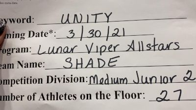 Lunar Viper Allstars - Shade [L2 Junior - Medium] 2021 Mid Atlantic Virtual Championship