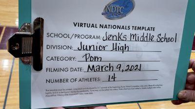Jenks High School [Junior High - Pom Virtual Finals] 2021 UDA National Dance Team Championship