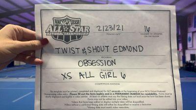 Twist & Shout - Edmond - Obsession [L6 Senior - Xsmall] 2021 NCA All-Star Virtual National Championship