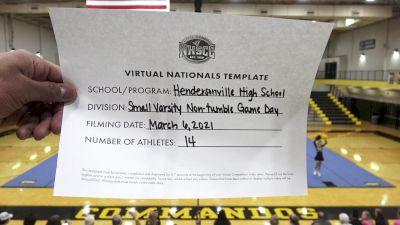 Hendersonville High School [Virtual Game Day - Small Non Tumbling Finals] 2021 UCA National High School Cheerleading Championship