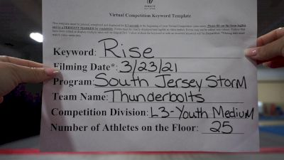 South Jersey Storm - Thunderbolts [L3 Youth] 2021 The Regional Summit Virtual Championships
