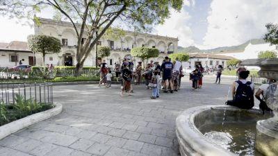 A Look Around Center Square In Antigua