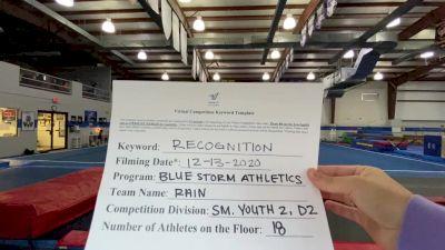 Blue Storm Athletics - RAIN [Level 2 L2 Youth - D2] 2020 America's Best Virtual National Championship