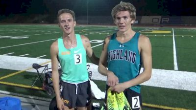 Leo Daschbach, Cole Sprout Talk History-Making Mile Race