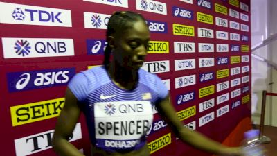 Ashley Spencer Qualifies To 400mH Semis But Didn't Feel Comfortable In Lane 8