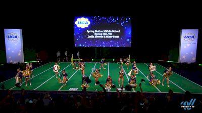 Spring Station Middle School [2019 Game Day - Junior High Semis] 2019 UCA National High School Cheerleading Championship