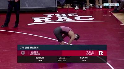 174 lbs: Jake Covaciu, Indiana vs Willie Scott, Rutgers