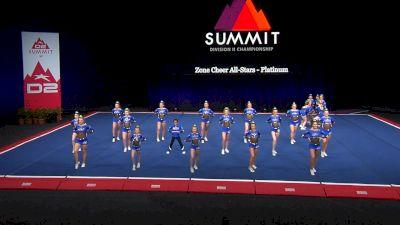 Zone Cheer All-Stars - Platinum [2021 L4 Junior - Small Semis] 2021 The D2 Summit