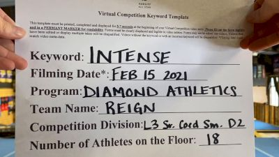 Diamond Athletics - Reign [L3 Senior Coed - D2] 2021 Coastal at the Capitol Virtual National Championship