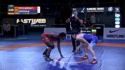 68 kg Tamyra Mariama STOCK MENSAH, USA vs - Mimi Nikolova HRISTOVA, BUL