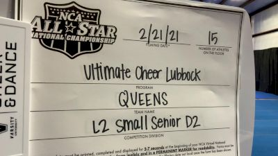 Ultimate Cheer Lubbock - Queens [L2 Senior - D2 - Small] 2021 NCA All-Star Virtual National Championship