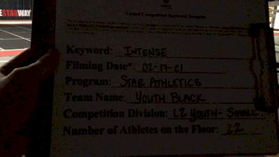 Star Athletics - Youth Black [L2 Youth - Small] 2021 Coastal at the Capitol Virtual National Championship