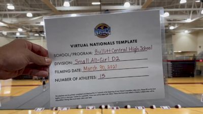 Bullitt Central High School [Small Varsity Division II Virtual Semi Finals] 2021 UCA National High School Cheerleading Championship