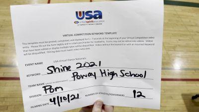 Poway High School [Dance/Pom Varsity Prelims] USA Spirit & Dance Virtual National Championships