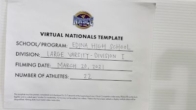 Edina High School [Large Varsity Virtual Finals] 2021 UCA National High School Cheerleading Championship