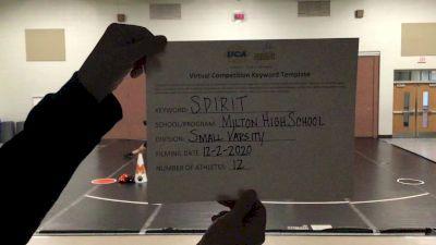 Milton High School [Small Varsity] 2020 UCA Allegheny Virtual Regional