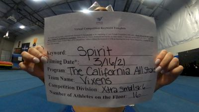 The California All Stars - Vixens [L6 Senior - Xsmall] 2021 PacWest Virtual Championship