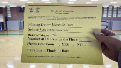 Rock Bridge High School [Virtual Large Varsity - Pom Prelims] 2021 NDA High School National Championship