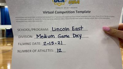 Lincoln East High School [Varsity - Game Day] 2021 UDA Spirit of the Midwest Virtual Challenge
