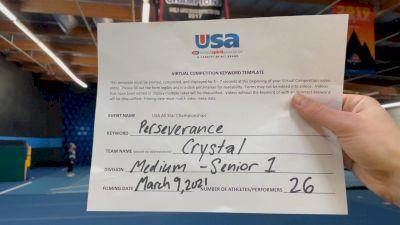 The California All Stars - Ontario - Crystal [L1 Senior - Medium] 2021 USA All Star Virtual Championships