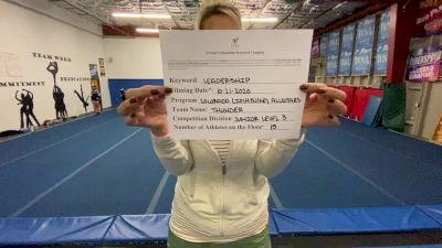 Colorado Lightning Athletics - Thunder [Level 3 L3 Junior] Varsity All Star Virtual Competition Series: Event I