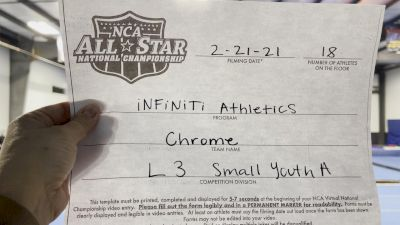 INFiNiTi Athletics - Chrome [L3 Youth - Small - A] 2021 NCA All-Star Virtual National Championship
