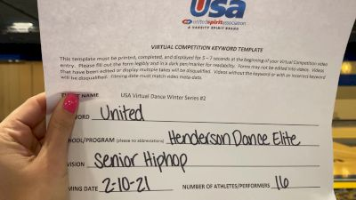 Henderson Dance [Senior - Hip Hop] 2021USA Virtual Dance Winter Series #2