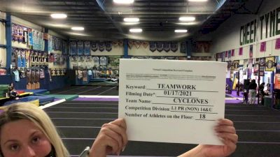 Tri-Town Competitive Cheerleading - Cyclones [L1 Performance Recreation - 14 and Younger (NON)] 2021 Varsity Recreational Virtual Challenge II