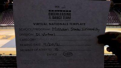 Missouri State University/Springfield [Division I Virtual Finals] 2021 UCA & UDA College Cheerleading & Dance Team National Championship