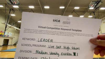 Live Oak High School [Medium Varsity] 2020 UCA Louisiana Virtual Regional