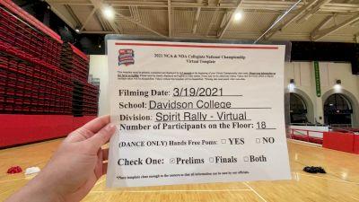 Davidson College [Virtual Spirit Rally Open Prelims] 2021 NCA & NDA Collegiate Cheer & Dance Championship
